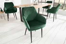 edler design stuhl turin samt smaragdgrün mit armlehne esszimmerstuhl konferenzstuhl