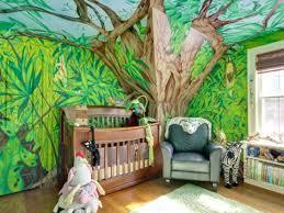 stickers jungle chambre bébé theme de chambre bebe dacco intacrieur jungle jungle decoration