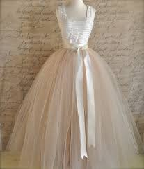 full length champagne tulle skirt champagne tulle lined in