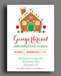 Gingerbread Decorating Party Invitation