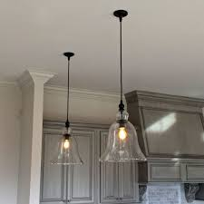 attractive kitchen light pendants glass with yellow fluorescent