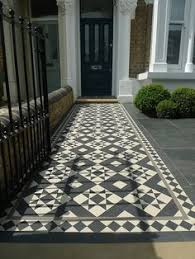 Garden Blog Black White And Grey A Traditional Design Mosaic With Diamond Border