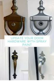 Front Porch Update Part 2 Spray Painting the Door Hardware The