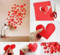 Heart Shaped 3D Wall Decorations 16 Awesome And Easy DIY