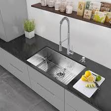 vigo 30 inch undermount stainless steel kitchen sink grid and
