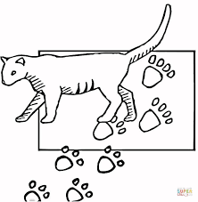 Click The Paw Print Coloring Pages