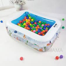 piscine a balle gonflable couche en plastique gonflable carré monde sous marin motif