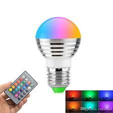 e27 e14 led changing rgb rgbw light bulb l 85 265v rgb led