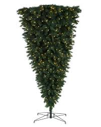9 Ft Slim Christmas Tree Prelit by Knocked Upside Down Christmas Trees Online Treetopia