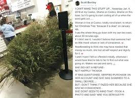 Woman Returns Tree In After It D Daily Mail Online Costco Fake Christmas Trees Artificial Price