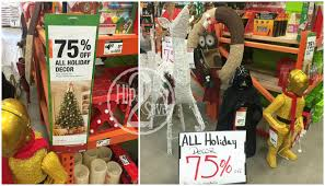 Rite Aid Pre Lit Christmas Trees by Home Depot 75 Off Christmas Clearance U2013 Hip2save