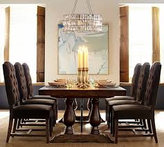 Pottery Barn Aaron Chair Espresso by Lorraine Extending Dining Table Pottery Barn Decor Pinterest