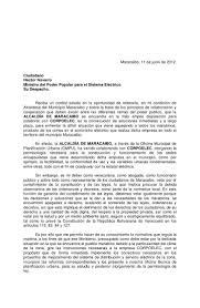 Corpelec Carta Alcaldesa Eveling Trejo De Rosales