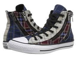 converse all plaid shoes converse chuck all dual zip plaid hi