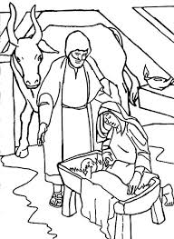 A World Welcoming The Birth Of Savior Bible Christmas Story Coloring Pages