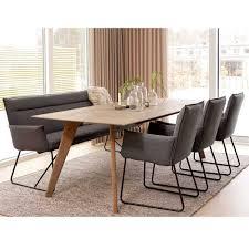 modernes esszimmer sofa in grau filz len