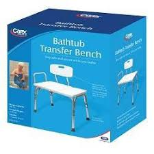 carex bath shower transfer bench with reversible seat back