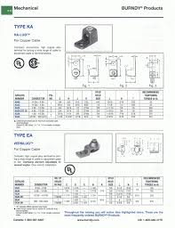 Dazor Lamp Wiring Diagram by Ka28 Copper Lug Mfg Burndy Electrical West Side Electric