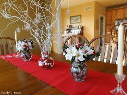 Dining Room Table Decorating Ideas For Christmas by Awesome Glass Vase Filled With Beautiful Flowers And Dry Trees