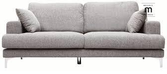 canap pas cher design canapé design 3 places tissu gris clair bomen pas cher prix canapé