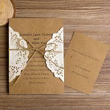 Vintage Pocket Wedding Invitations