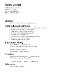 College Student Resume Example No Work Experience Sample