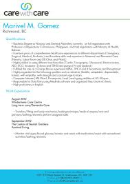 Caregiver Resume Template By Marivel M Gomez