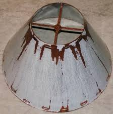 Light Rust Patina Southwestern Metal Lamp Shade