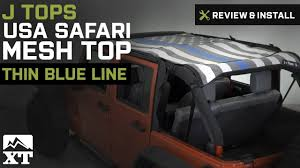 Jeep Wrangler J Tops USA Safari Mesh Top (2007-2017 JK 4-Door ...