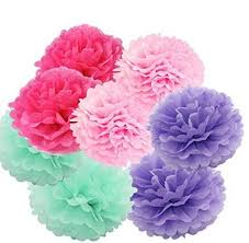 Art Craft Tissue Paper Flower 8pcs 20cm Decorative Hanging