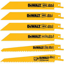 DEWALT Metal Woodcutting Reciprocating Saw Blade Set 6 Piece