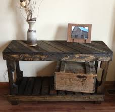 Pallet Sofa Entry Table By The Rustic Recyclery 145