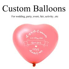 Baby Shower Logo by Custom Heart Shape Balloons Personalized Party Balloons Print Name