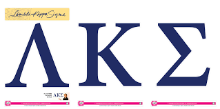 Lambda Kappa Sigma Jumbo Letter Decals SororityShop