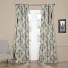 Moroccan Tile Curtain Panels by Damask Curtains U0026 Drapes You U0027ll Love Wayfair