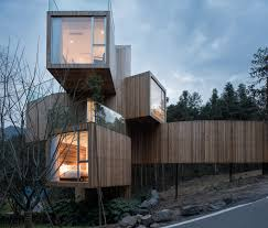 100 Tree House Studio Wood The Qiyun Mountain Bengo Media Photos And