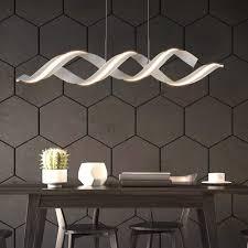 zmh led pendelleuchte hängele esstisch weiß 29w 3000k warmweiß höhenverstellbar spirale design pendelle für wohnzimmer schlafzimmer