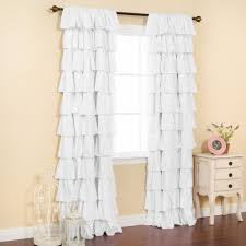 Gray Ruffle Blackout Curtains by Ideas Bed Ruffle Curtains