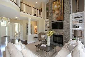 Living Room With Fireplace And Bookshelves by Contemporary Living Room With Hardwood Floors U0026 Built In Bookshelf