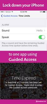Lock down your iPhone to one app with Guided Access