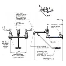 mop sink faucet 8 center wall mount faucet with image