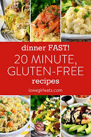 Dinner FAST 20 Minute Gluten Free Recipes