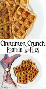 Cinnamon Crunch Protein Waffles