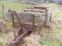 Old Farm Tipping Trailer For Sale