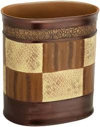 Small Bathroom Trash Can With Lid by Amazon Com Popular Bath Zambia Waste Basket Home U0026 Kitchen