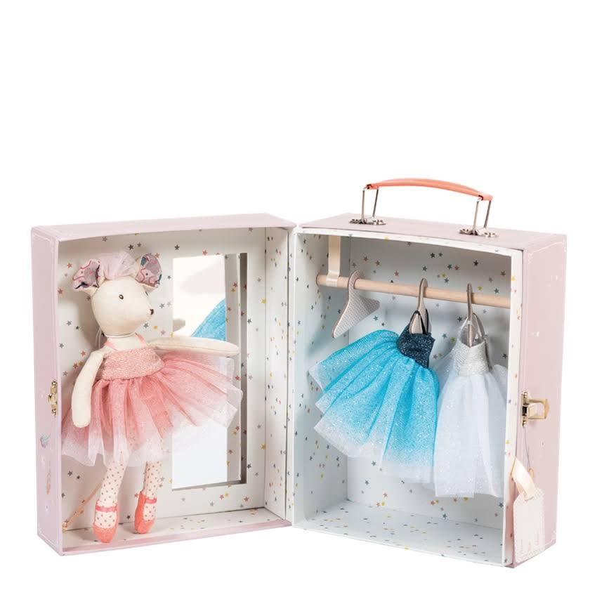 Moulin Roty Ballerina Mouse Trunk Set - 1.1lbs