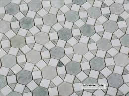 quality white thassos ming green marble sunflower mosaic