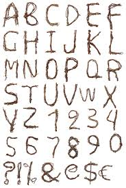 Tree Branch Font Alphabet Closer To Nature