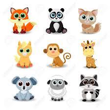 Coleccion De Animales Lindos Incluidos Los Zorros Panda Gato Caballo Mono