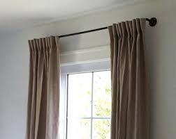 Industrial Farmhouse Rustic Window Curtain Rod Iron Pipe Covering Hanger Modern Decor